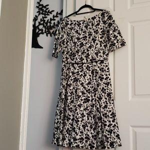 Black White Vintage Style Dress